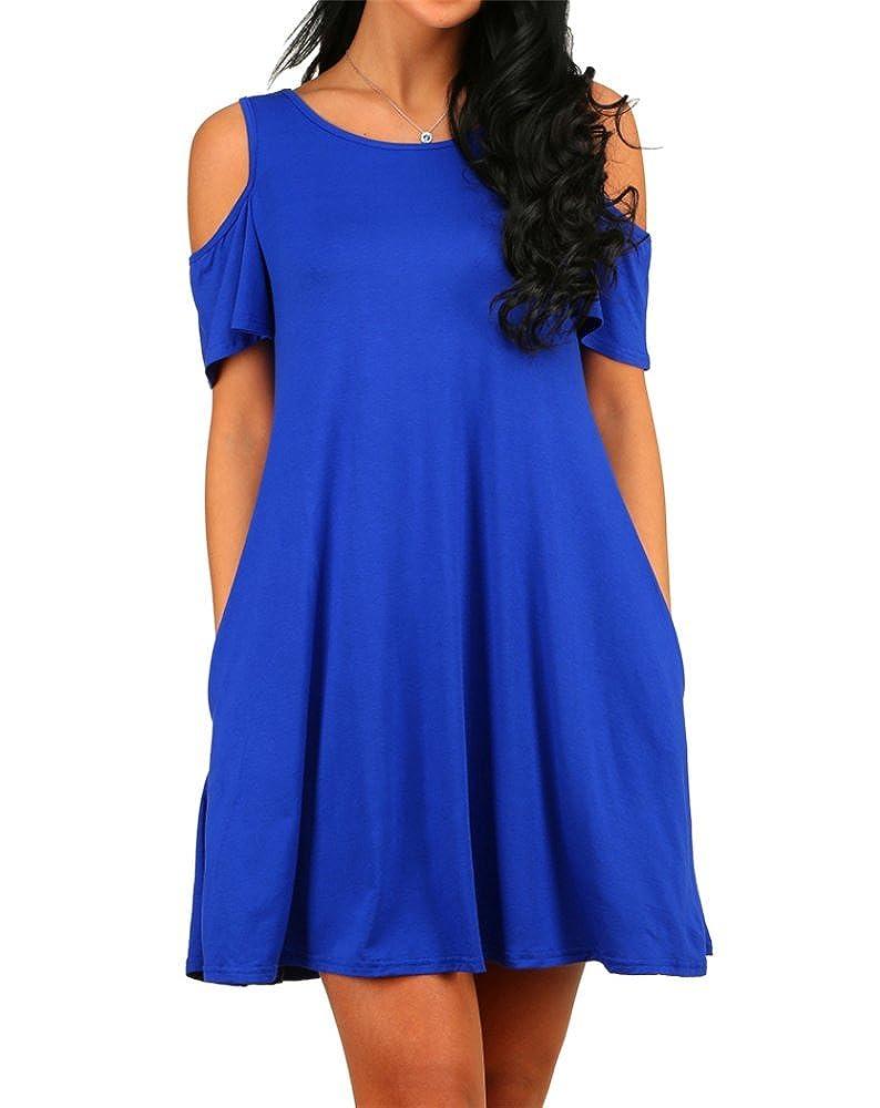 HAOMEILI DRESS レディース B074PPF27P L|ブルー ブルー L