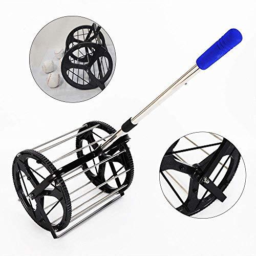 Tennis Ball Picker, Pick Up 55 Balls Hopper Retriever Mower Collector Box Trainer (Best Tennis Ball Mower)