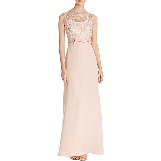 Tadashi Shoji Womens Metallic Lace Formal Dress at Amazon Women\'s ...