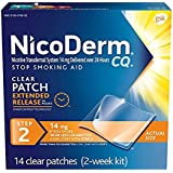NicoDerm CQ Stop Smoking Aid 14 milligram Clear Nicotine Patches for Quitting Smoking, Step 2, GreatPack 1Pack (21 Patches Each ) N$e#Hd