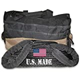 BILLET4X4 (Full-size truck) U.S. made 1-1/8 inch X 30 ft KINETIC Snatch Rope- MILITARY-GRADE - BLACK - with Heavy-Duty Carry Bag