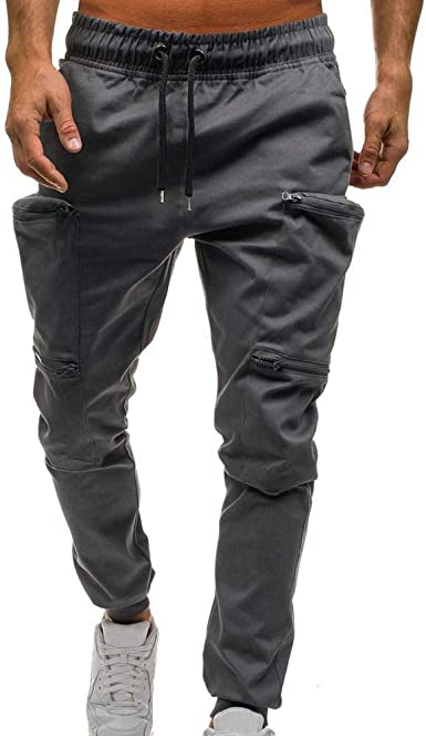 JiaMeng Hommes Pantalon Causual Cordon de