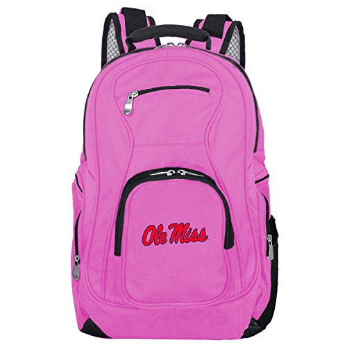 NCAA Mississippi Ole Miss Rebels Voyager Laptop Backpack, 19-inches, Pink