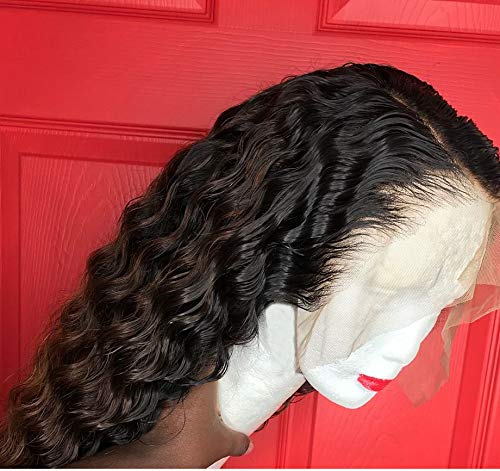 13x6 Density 150% Lace Front Wigs Human Hair With Baby Hair Brazilian Deep Part Remy Lace Front Human Hair Curly Wigs Preplucked