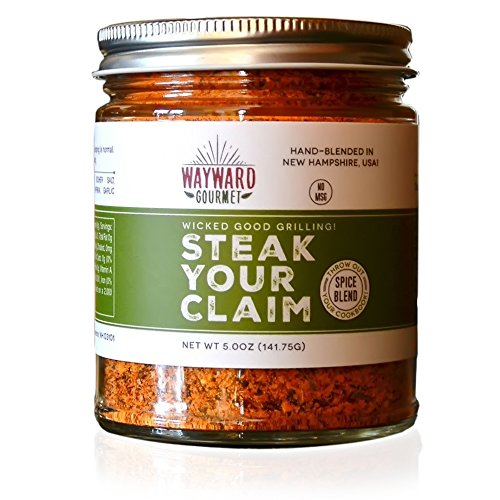 Steak Your Claim Steakhouse Restaurant Rub & Seasoning by Wayward Gourmet - The Best Hamburger Seasoning Spice Blend Mix - Great for the Grill, Jerky, Ribeye, BBQ, Chicken - It's THE Steak Rub by Wayward Gourmet