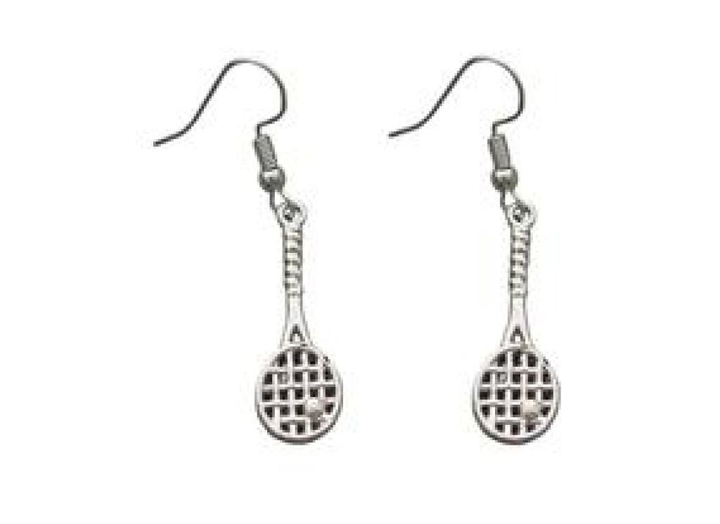 Infinity Collection Tennis Earrings Tennis Racket Jewelry for Women Perfect Tennis Gifts for Women Teens and Girls