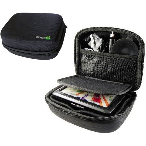 Charger-City Exclusive 5-inch GPS Hard Case with Multi-Compartment for TOMTOM by ChargerCity