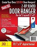 BLANKS/USA Pre-Cut Jumbo Door HangEr, 15 Sheets, 30 Door Hangers (DHT08X9WH)