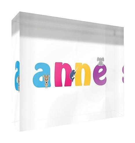 Feel Good Art lienzo con Solid enmarcado Caja de madera en color blanco Surround en nombre