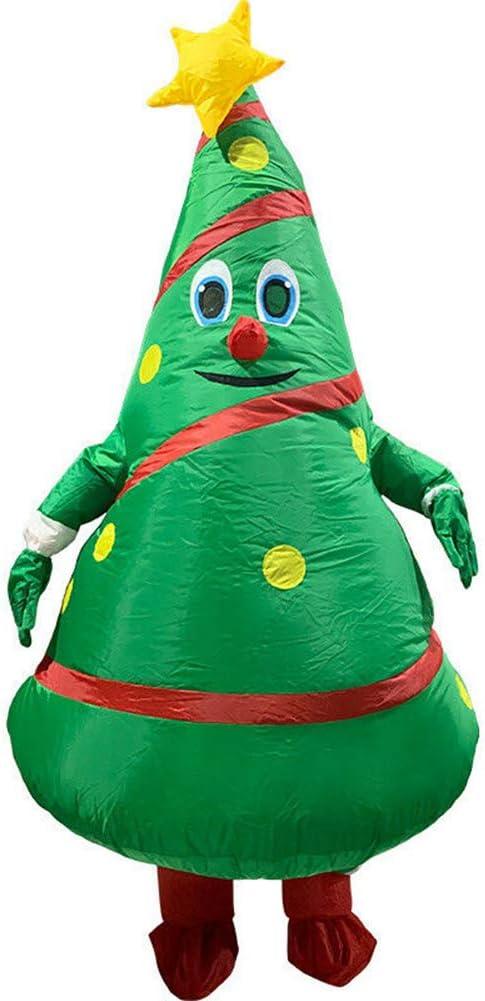 Mahhala Disfraz de árbol de Navidad Inflable, Traje de Halloween para Adultos, Cosplay, Navidad, Cosplay, Fiesta de Disfraces, cumpleaños