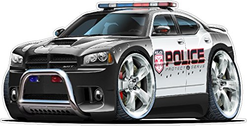 Graphic Car Wall - Dodge Charger Magnum Police Cars Art Large 2ft long Wall Graphic Decal Sticker Man Cave Garage Decor Boys Room Decor