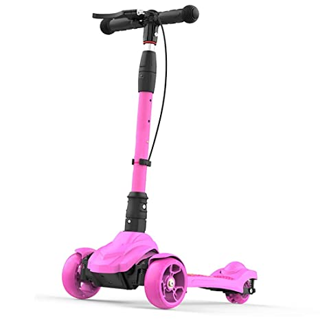 LFY Scooter de 3 Ruedas para niños: Equipado con Freno de Mano y brújula,