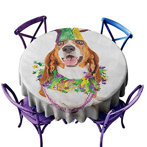 (Mardi Gras,Round Tablecloth D 54