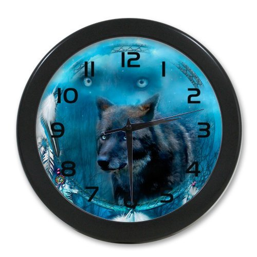 Wolf Dreamcatcher Elegant Wall Clock 100% Quartz