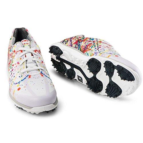 Foot Joy Golf Shoes. FootJoy EmPower Spikeless Golf Shoes CLOSEOUT Women Paint Splatter Medium 7 #golf