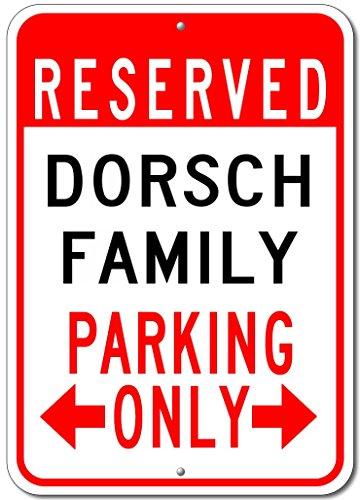 Dorsch the best amazon price in savemoney dorsch family parking sign custom dorsch family last name aluminum sign 10x14 fandeluxe Images