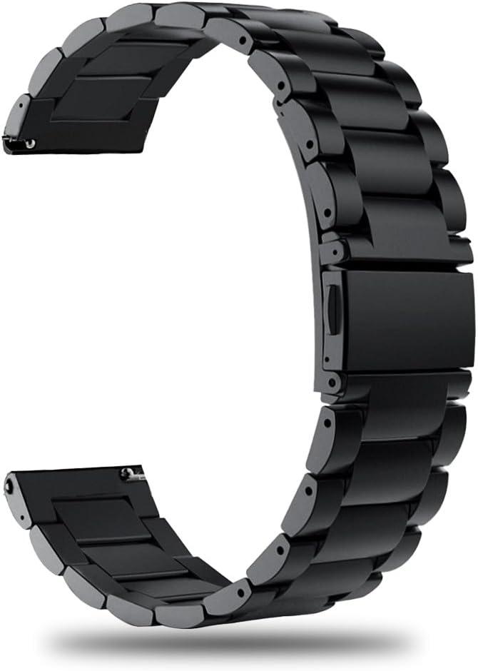 TRUMiRR para Ticwatch Pro Correa de Reloj, 22mm Correa de Reloj de Acero Inoxidable Metal Pulseras de Repuesto para Samsung Gear S3 Classic/Frontier, Huawei Watch 2 (Classic), LG G,Galaxy Watch3 45mm
