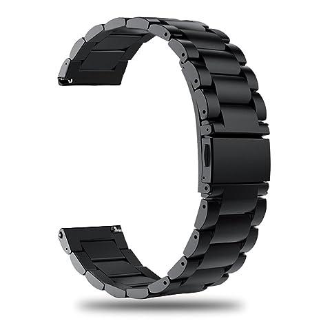 TRUMiRR 20 mm Reloj de Acero Inoxidable Banda rápida Correa de liberación para Garmin Vivoactive 3, Samsung Gear Sport, Gear S2 Classic, Huawei Watch ...
