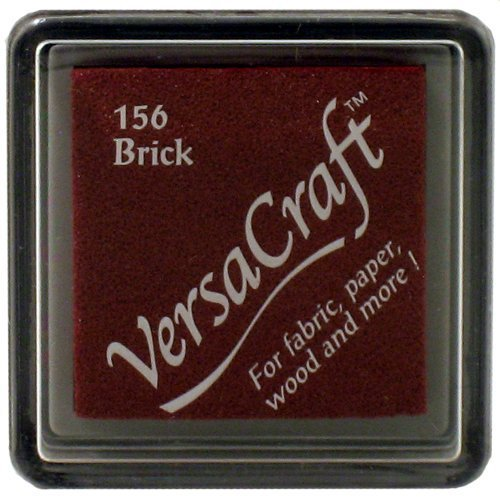 Tsukineko Small Size VersaCraft Fabric and Home Decor Crafting Pigment Inkpad, Brick