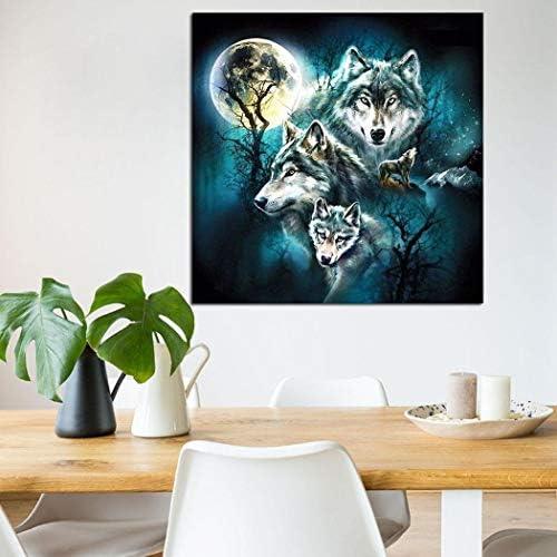 Miseku Home Living Room D/écor Animal Resin DIY Diamond Painting Cross-Stitch