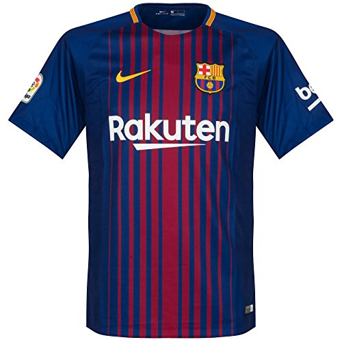 Nike 2017/18 Kids FC Barcelona Stadium Jersey with Sponsor [DEEP ROYAL BLUE]