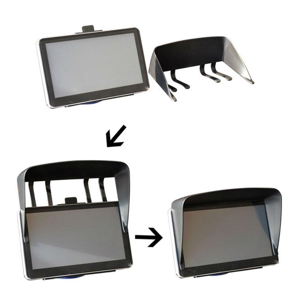 SODIAL Sun Shade Shield Glare Visor For 7 inch Car Vehicle GPS Navigator Monitor R