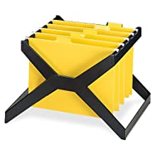 deflect-o XR206 X-rack file for 25 letter/legal hanging folders, plastic, 16wx12dx11h, black