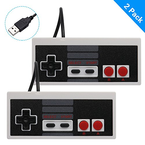 ARCHE 2 Packs Classic USB Wired Controller for NES Gaming, Retro Gamepad Joystick Raspberry Pi Gamepad for Laptop Computer Windows PC Mac Linux Retropie NES Emulators