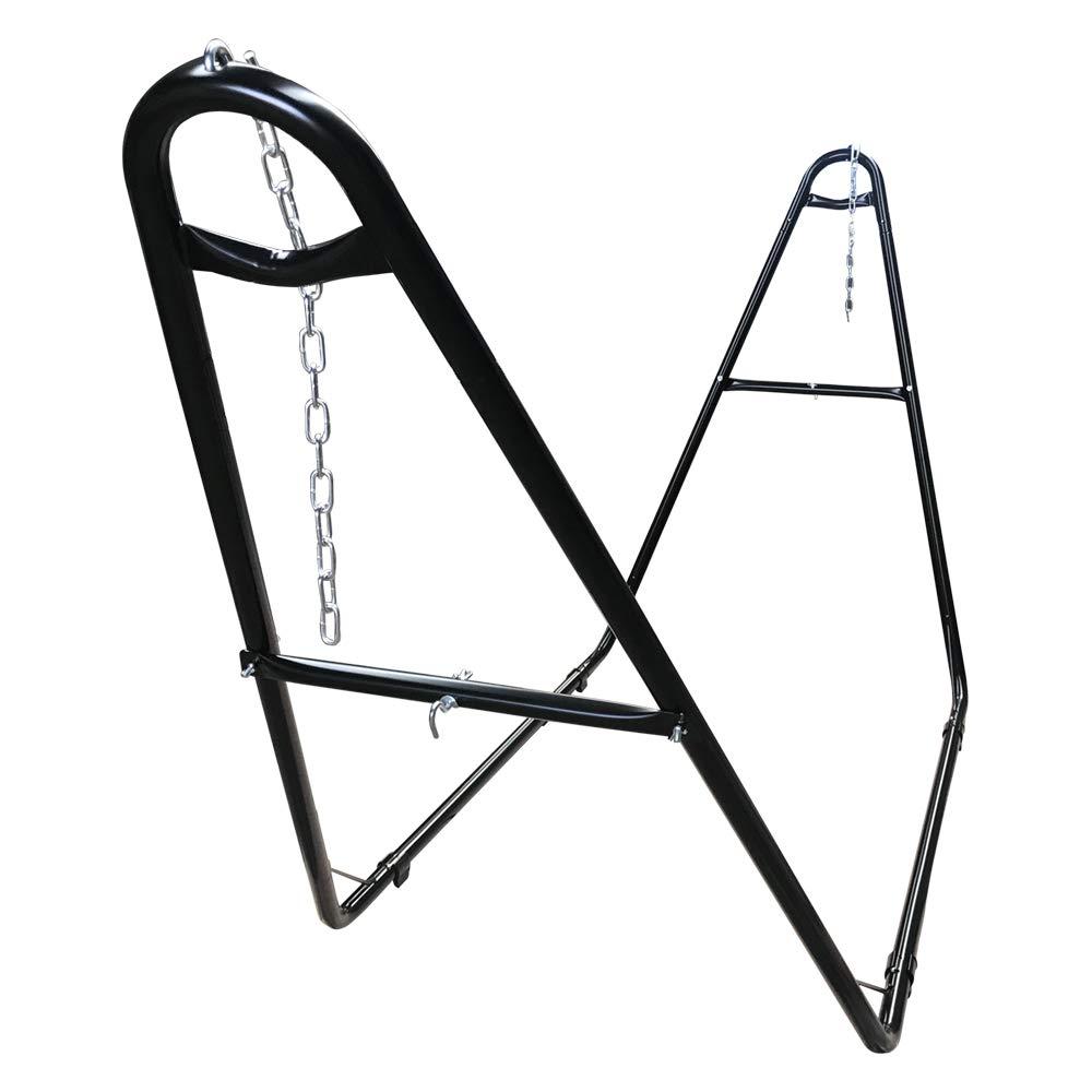 Zupapa 2020 Upgrade Universal Multi-Use Steel Hammock Stand, 550LBS Capacity 2 Person, Fits Hammocks 9 to 14 Feet Long, Adjustable Heavy Duty Hammock Frame