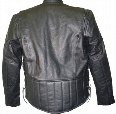 Xelement B7201 Mens Top Grade Leather Motorcycle Jacket with Zip-Out Lining - Small