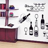 wall decals beer - Honny Home DIY Beer Bottles Wine Glass Window Wall Stickers Refrigerator