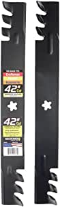 "Maxpower 561713XB Commercial Mulching 2-Blade Set for 42"" Poulan/Husqvarna/Craftsman, Replaces 138498, 138971, 138971x431, 532138971, PP24005, Black"