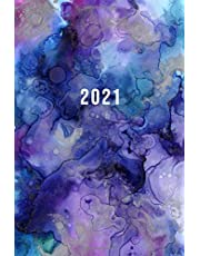 2021: Starting in March 2021   Daily Planner With Hourly Time Slots 5am - 11pm   6 x 9 Dated Agenda   1 Day Per Page   Monday Start Appointment Calendar   Organizer Book   Soft-Cover Watercolor