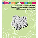 Stampendous Cling Rubber Stamp, Pen Pattern Starfish