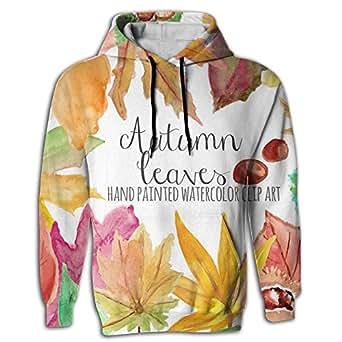 Llblk Men's Hoodie Novelty Sweatshirt With Cap Autumn Season Fall Hipster