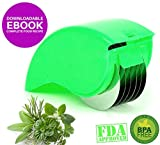 Pro Herb Mincer | Super Sharp 6 Stainless Steel Blades To Mince all Kinds of Herbs | Most User Friendly Design with Safe ABS Cover and Nonslip Grip | Dishwasher Safe | Bright Green | 715