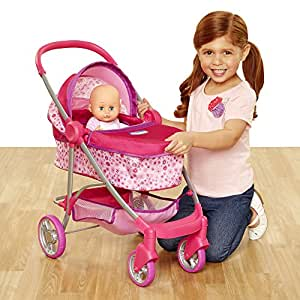 Chicco Deluxe Pram for Baby Dolls, Pink [Amazon Exclusive ...