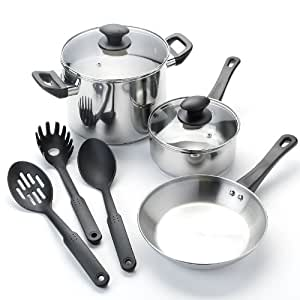 Kitchen la carte 8 pc stainless steel for 8 pc kitchen set
