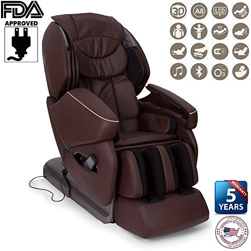Nirvana 3D Massage Chair - Brown (2019 New Model) - Professional Relax  shiatsu Armchair with 9 Programs - Zero Gravity, Magnetic, ionizer and Heat