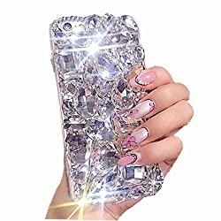 Clear White Rhinestone With TPU Case for Oppo