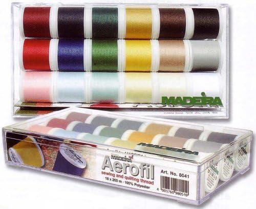 Madeira 8041 Aerofil - Caja de Hilos de Costura básicos (18 ...