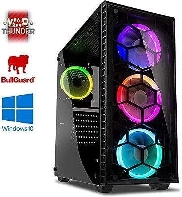 Vibox Dominator 1 Gaming PC Ordenador de sobremesa con War Thunder Cupón de Juego, Windows 10 OS (3,4GHz AMD Ryzen Quad-Core Procesador, Nvidia ...