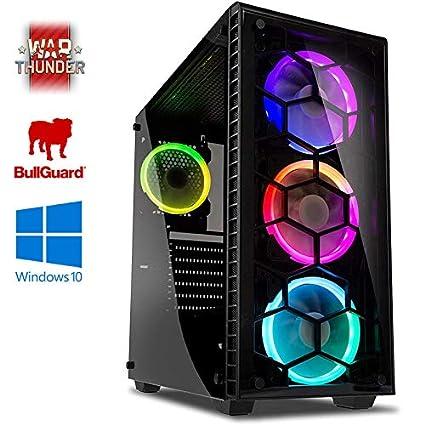Vibox Bravo 4 Gaming PC Ordenador de sobremesa con War Thunder Cupón de Juego, Windows 10 OS (3,4GHz AMD Ryzen Quad-Core Procesador, Nvidia GeForce GT ...