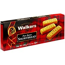 Walkers Shortbread Fingers, 5.3-oz. Boxes (Count of 6), Traditional and Simple Pure Butter Shortbread Cookies from the Scottish Highlands, Made with Quality Ingredients, Free from Artificial Flavors