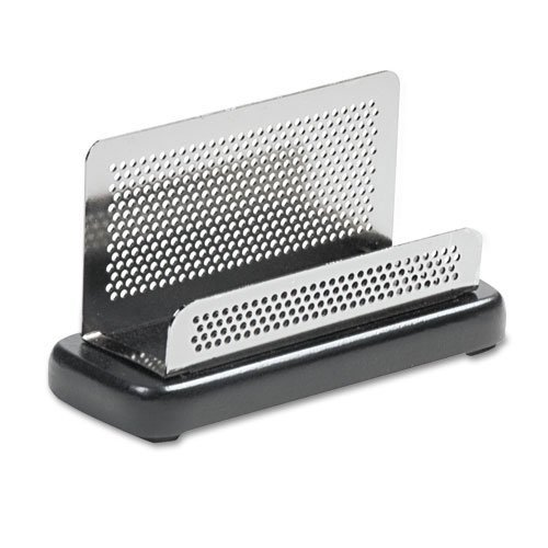 Rolodex : Distinctions Business Card Holder, Capacity 50 2-1/4 x 4 Cards, Black -:- Sold as 2 Packs of - 1 - / - Total of 2 Each