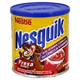 Nesquik Powdered Strawberry Drink, 14.1-Ounce Container (Pack of 6)