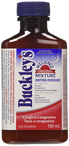 BUCKLEY'S Original 'Night Time' COUGH CONGESTION Syrup 100 ml/3.38 oz