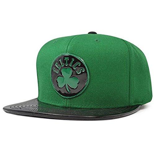 Mitchell & Ness Boston Celtics TEAM STANDARD Snapback NBA Adjustable Hat - Green, Black by Mitchell & Ness