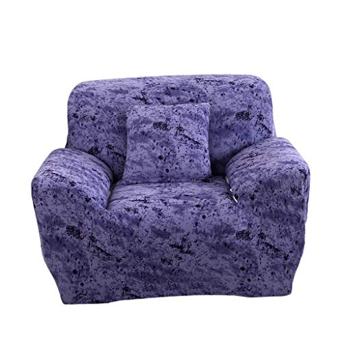 Bazzano Washable Stretch Arm Chair Cover Couch Settee Sofa Slipcover, Sapphire Blue