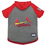 Pets First MLB Hoodie for Dogs & Cats - Saint Louis Cardinals Dog Hooded T-Shirt, Medium. - MLB Team Color Hoody